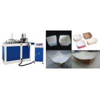 China 4KW Automatic Paper Lunch Box Making Machine With PLC Program Control on sale