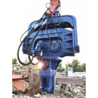 China Blue Excavator Mounted Pile Driver , Hydraulic Pile Driver For Excavators on sale