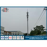 China H30m RAL Painted Steel Tapered Telecommunication Towers Weather Resistance wholesale