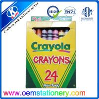 Quality 24 Color 8.8cm Mini Crayola Wax Safe Non Toxic Crayons Set For Drawing for sale