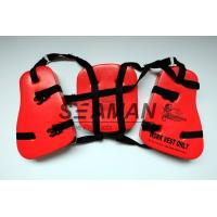 China Adult Seahorse Lifevest Vinyl - Dip PVC Boating Life Jackets Three Panel wholesale