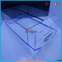 China high quality plexiglass shoe box for package,wholesale custom clear acrylic shoe box hupbox sneaker display box wholesale