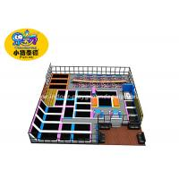 China Indoor Jump Trampoline Park 12 Months Warranty / Trampoline Jumping Bed For Kids wholesale