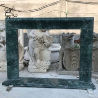 China Antique Marble Fireplace Surround Freestanding Fireproof Stone By Hand Carved wholesale
