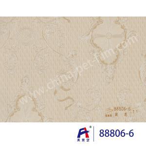 China Flowers PVC Decorative Film , 0.12-0.18mm Thickness Pvc Interior Film Waterproof wholesale