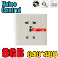 China Home Security Wall Socket Outlet DVR Spy Hidden Camera Surveillance Audio Video Recorder wholesale