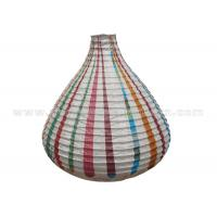 China Unique Shaped Rice Paper Lamp with Circus Printing , Wedding Paper Lanterns wholesale