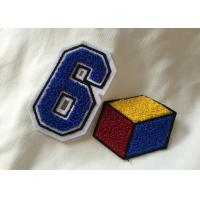China Personalized Embroidered Number Patches , Iron On Embroidered Letter Patches wholesale