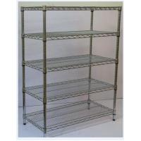 China Floor Type NSF Wire Shelving Flat Slant Wire Basket Multi Layers SGS Approval on sale