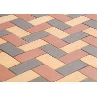 China Customized Red Clay Brick Pavers , Concrete Driveway Pavers Sintered / Extrusion wholesale