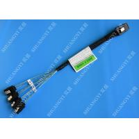 China 30 AWG Mini SAS Serial Attached SCSI Cable , 36P SFF 8087 To SATA Breakout Cable With Latch wholesale