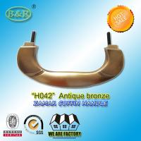 China Zinc Alloy Coffin Handle H042 Metal Handle For Coffin And Casket wholesale