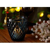 China Mouth Blown Glass Candle Holders For Wedding , Candle Glass Containers wholesale