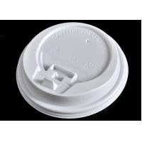 China Ice Cream Paper Cups Lids , White Coffee Mug Lid Cover Lightweight wholesale