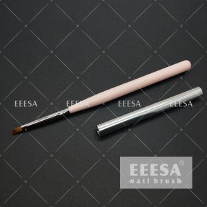 China Acetone Resist 715C Nail Art Gel Brush Wooden UV Coating Surface 4 7mm Hair Length wholesale