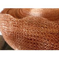 China Purple Copper Wire Mesh Customized 4 Line Wire Knitted Netting 10cm Width wholesale