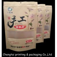 Quality Easy Carrying Durable Stand Up Pouch Packaging Paper Bags With Zipper / Window for sale