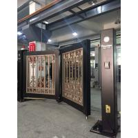 China Powder Coated Automatic Swing Bi Folding Gate With Single Arm And Remote Control wholesale