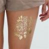 Buy cheap Golden Flower Design Fake Body Tattoo Sticker Art For Decoration from wholesalers
