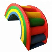 China Rainbow Style Indoor Soft Play Equipment , Colorful Commercial Play Equipment wholesale