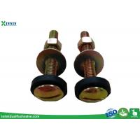 China Toilet Accessories Toilet Tank to Bowl Bolts Set Of Two In Steel Brass Plated wholesale