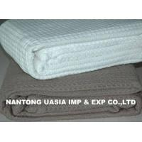 China 100% Cotton Waffle Thermal Blankets on sale
