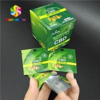 Child Proof Plastic Pouches Packaging Resealable Ziplock Mylar Bag CBD Hemp Weed