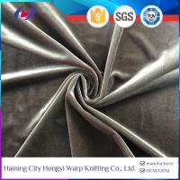 China Two Way Stretch Heavy Super Soft Polyester Spandex Fabric Korean Velvet wholesale