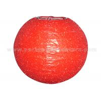 Various Colors Round Glitter Paper Lanterns , Red And Gray Paper Lanterns