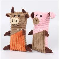 China Lovely designed dog products pig and bull stuffed dog chew toy wholesale