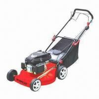 China Gasoline Lawn Mower with 508mm Cutting Width, 25 to 85mm Height and 139cc Displacement wholesale