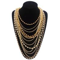 China Fashion Maxi Bohemian Necklace for Women 2015 Vintage Multilayer Collar Pearl Necklace wholesale