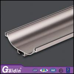 China aluminum extrude modern recessed CNC woodgrain electrophoretic kitchen cabinet shower door handle profiles wholesale