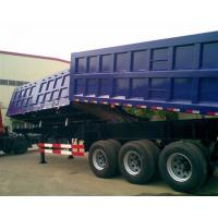 China Garden Landscape Dump Truck Trailer With Hydraulic Cylinder Lifting system wholesale
