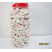 China Rope Shape Twisted Marshmallow Candy , Gourmet Marshmallow Easter Candy wholesale