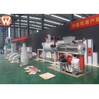China Small Cattle Poultry Pellet Feed Plant With Electronic Control System 1-2T/H wholesale