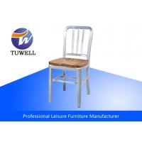 China Outdoor Brushed Aluminum Wood Seat Commercial Modern EMECO Navy Chair wholesale