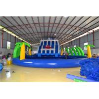 China 0.9mm PVC Tarpaulin Inflatable Water Toys , Giant Swimming Pool Family Water Slide wholesale