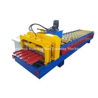 China 1250 Width Panel Glazed Tile Roll Forming Machine For Steel Construction wholesale
