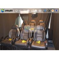 Quality 6 Persons 7D Movie Theater Mini Luxury Leather Motion Chairs , Remove Anywhere for sale
