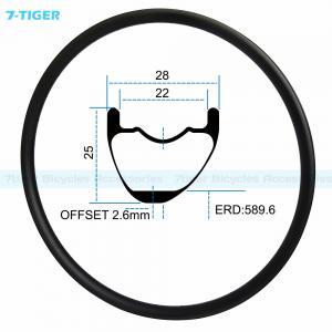 China 7-tiger carbon mountain bicycle wheel rim 29 er asymmetric offset XC bike 25x28 mm Tubeless Compatible wholesale