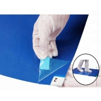 """China CE SGS Cleanroom Blue White 35um 36""""*45"""" ESD Sticky Mat wholesale"""
