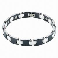 China Bracelet, Made of Titanium and 316L Steel Materials, OEM/ODM Orders Welcomed wholesale