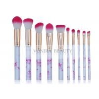 China Marvelous Marble Handle Mass Level Makeup Brushes For Facial , High End wholesale