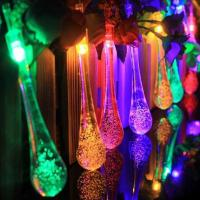 China 20LED Colorful Water-Drop Solar String Lights for Wedding Christmas Party Festival Outdoor Indoor Decoration wholesale