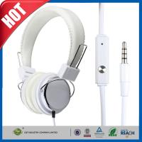 China Fashion White Iphone Headphone or Earphone Earbuds Mic Over-ear wholesale