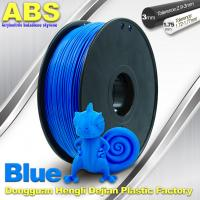 China ABS Blue Fluorescent Filament  , 1.75mm / 3.0mm 3D Printer Filament 1kg / Spool wholesale