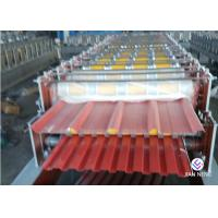 China Trapezoid Double / Two Layer Roll Forming Machine Steel Material For Roof Panel wholesale