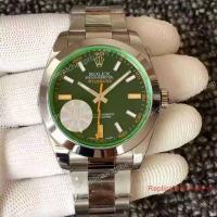 China Swiss ETA2836 Replica Rolex Milgauss Green Watch 40mm wholesale