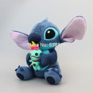 China Lilo Stitch holding SCRUMP 24cm 9.6'' Soft Stuffed Plush Doll Toy Loose New wholesale